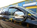 Lot de 2 coques de rétroviseur en acier inoxydable chromé pour VW Touareg 2003–2006 (conduite à gauche)