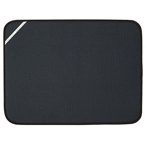 Envision Home 432801 18 24-Inch Microfiber Dish Drying Mat, X-Large, Black, XL