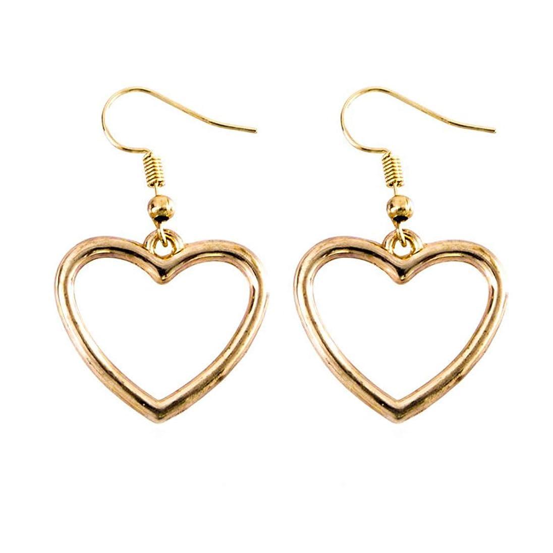 急降下促すアブセイOnior 幾何学的な、ハート型、甘い、黄金の愛のイヤリングを切り取ります。クリエイティブで便利