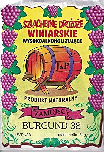 Hugbert Weinhefe, Burgund 38, für Rotweine, 100% natürlisches Produkt, Gärhefe Hefe, 1 Stück