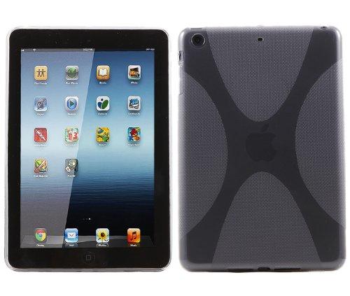 iTALKonline ProGel WAVE X-Line Duro Protector Case Grip TPU Cover Per Apple iPad Mini - Nero