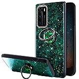 URFEDA Glitter Brillante Cover Compatibile con Huawei P40, Custodia con Anello Ring Suppor...