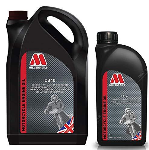 Millers Oils CB40 SAE 40 Competition Huile moteur de ricin 6 litres