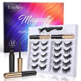 Magnetic Eyelashes with Eyeliner, EverNice 10 Pairs Different Styles Reusable 3D 5D Magnetic Eyelashes, Magnetic False Lashes Extension kit- No Glue Need