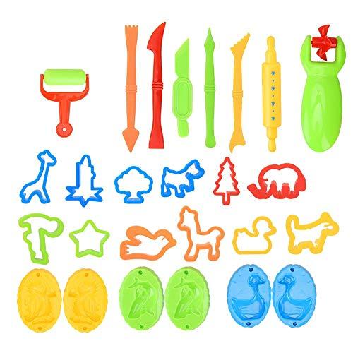 Juego de herramientas de arcilla de color de 26 piezas, juego de herramientas de plastilina inteligente para masa, juego de...