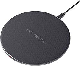 BENGOO Fast Wireless Charger, 10W Wireless Charging Pad, Qi-Certified, Compatible with Apple iPhoneX/8/8Plus,Samsung GalaxyS6/S6 Edge,LG,Nexus5, and More(USB Cable Included)