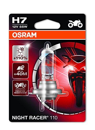 OSRAM Night Racer 110 H7 Projecteur de Moto 64210NR1-01B 12V Blister Individuel