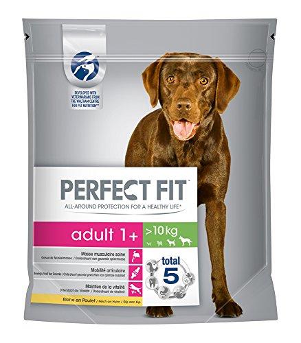 Perfect Fit - Poulet sec pour chien adulte - Taille M/L - 1,4 kg, lot de 4