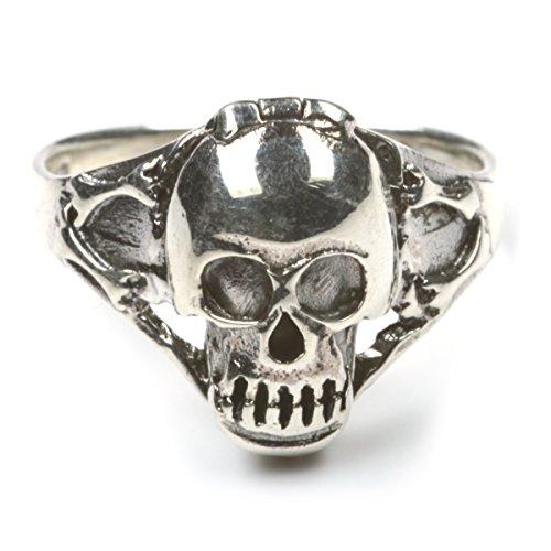 Drachensilber Silberring Totenkopf Ring mit Fach Giftring Gothic Schmuck 925 Silber Größe 64