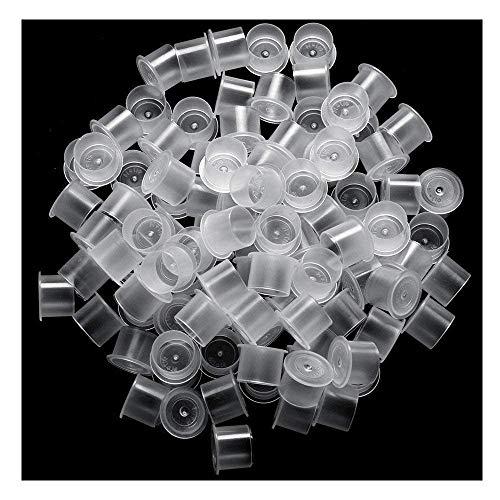 Xinlie Capsules de Tatouage Tasse de Chapeau D'encre de Tatouage Porte-gobelet encreur Pigment Cup Coupes Encres en plastique Tasse Pour Encre Tatouage Tatouage Machine Accessoire (1000 PCS)