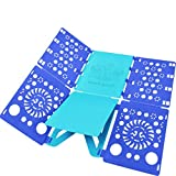 BoxLegend Shirt Folding Board t Shirts Clothes Folder Durable Plastic Laundry folders Folding Boards flipfold (Blue & Turquoise)
