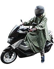 CarOver 【フリーサイズ】 極厚 袖付き レインポンチョ メンズ レディース バイク 自転車 原付 スクーター フリーサイズ レインコート レインウェア レインスーツ 雨ガッパ 通勤 通学 CO-RAIN-PONCHO