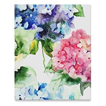 Beautiful Hydrangea Blue Flowers Art//Canvas Print Home Decor Wall Art Poster
