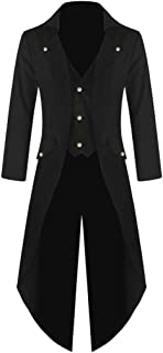 Men's Coat Tailcoat Jacket Gothic Frock Top Uniform Costume Praty Outwear
