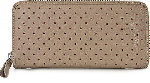 MASQUENADA, Leder Damen Geldbörsen, Börsen, Portemonnaies, Brieftaschen, 19,5 x 9,5 x 2 cm (B x H x T), Farbe:Taupe