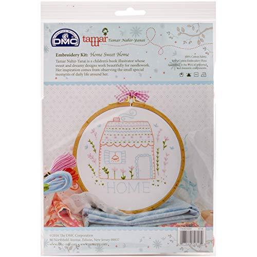 DMC Kit da Ricamo Home Sweet Home Tamar nahi-yanai Stampata, Multicolore