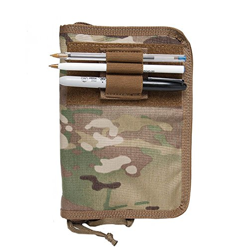 Tactical Wallet/Military Notebook Cover/Fits 4x6 Notepad (Case in Multicam)