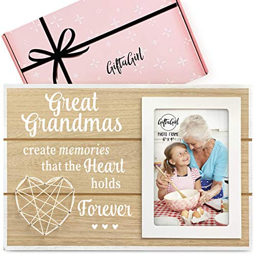 GIFTAGIRL Great Grandma Gifts for Christmas - Our Great Grandma Picture Frame, are Ideal Gifts for Great Grandma. Great Grandmother Gifts Like Our Great Grandma Frame, is a Great Grandma Gift