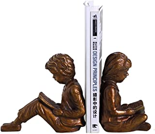Bookends Boy Girl Dookends مدمن قراءة كتاب قراءة كتاب الزخرفية كتاب الجرف ينتهي لرفوف الكفوف يدعم أحرف الراتنج مجموعة Book...