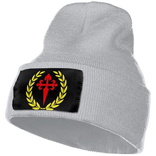 Unisex gebreide hoed mode schedel pet breien hoeden-olijftak kruis van Saint James