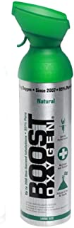 Boost Oxygen Supplemental Oxygen to Go   All-Natural Respiratory Support for Health, Wellness, Performance, Recovery and Altitude (10 Liter Canisters, 2 Pack, Natural)