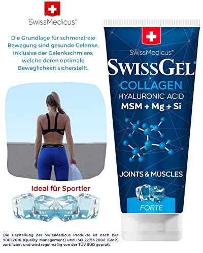 SwissMedicus Pferdebalsam mit Kollagen kühlend extra stark Kräuterbalsam für kühlend Körperpflede, Bevegungsapparatschmerzen Erleichterung. Mit kollagen, hyaluronsäure, 200 ml