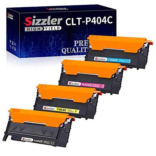 Sizzler Compatible CLT-P404C Cartuchos de tóner Reemplazo para Samsung CLT-K404S CLT-C404S CLT-M404S CLT-Y404S Toner… 1