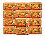 Asantee Thai Papaya - Jabón blanqueador de hierbas (125 g, 12 unidades)