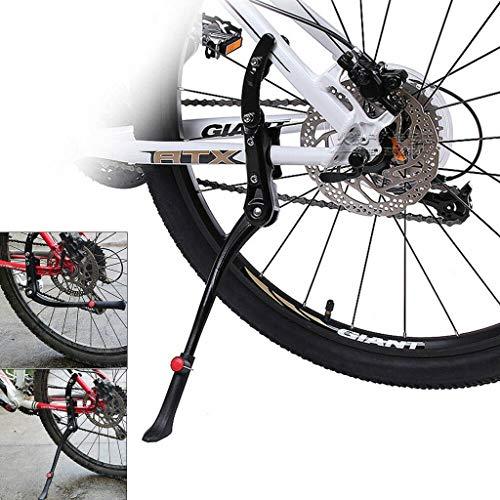 Jasinto Fahrradständer 24-26 Zoll,Verstellbare Fahrradabstellplätze Fußstützenhalterung,Einstellbare Höhe Unterstützung,Anti-Rutsch Universal Seitenständer Rutschfester Gummiständer Parkstütze