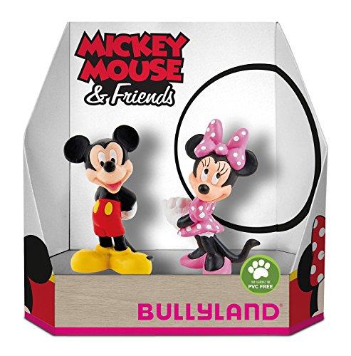 Bullyland 15083 – Juego de Figuras de Disney Mickey y Minnie en Caja de Regalo, 2 Piezas, Figuras pintadas a Mano, sin PVC, Regalo Ideal para niños y niñas para Jugar de fantasía