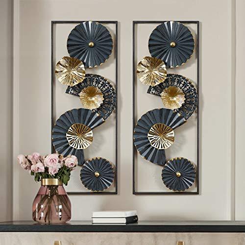 BLOUR Nuevos tapices de Pared de Hierro Forjado Azul de Lujo Chino para el hogar, Sala de Estar, Pegatina de Pared, decoración, Porche de Hotel, Oficina, Mural, Manualidades