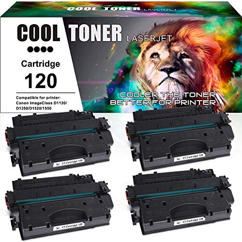 Cool Toner Compatible Toner Cartridge Replacement for Canon 120 CRG-120 Cartridge 120 Canon Imageclass D1550 D1520 D1320 D1120 D1350 D1150 D1170 D1180 D1370 Canon D1520 D1550 Ink Toner Printer 4Pack