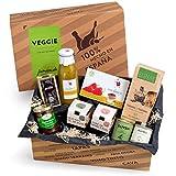 Feinkost-Präsentkorb Veggie-Box Spanien | Ideale Geschenkidee für Freunde der vegetarischen Küche & Vegetarier | Exquisite Auswahl an Tapas-Klassikern geschenkfertig in Geschenk-Box