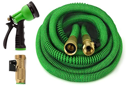 GrowGreen Garden Hose 50 Feet Expandable Hose with All Brass...