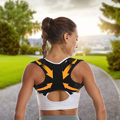 Posture Corrector for Women Teens Adjustable Back Braces Support Belts Breathable Upper Clavicle Back Posture Support Straps-Professional Back Straightener for Shoulder Neck Pain Relief Fit 88-165 lb