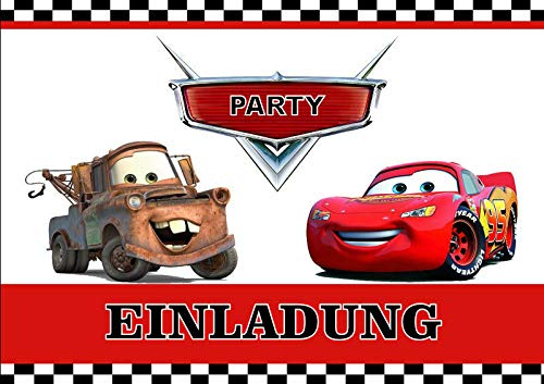 VSW Disney's Pixar Cars Einladungskarten 6er Set inkl.6 Umschläge M5