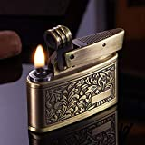 Vintage Trench Lighter,Handmade Cool Lighters for Smoking,Reusable Antique Windproof Cigarette Lighter,Novelty Soft Flame Kerosene Lighter for Collection Decorative Gift Present
