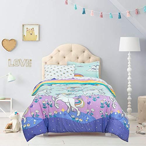 Kidz Mix Magical Unicorn Bed in a Bag, Twin, Multicolor
