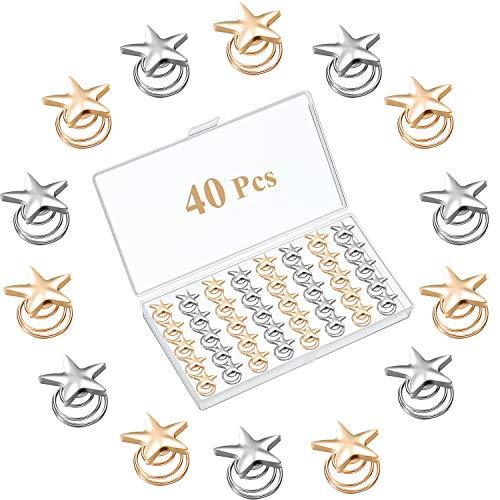 40 Piezas Horquillas Espirales de Estrella Horquillas de Pelo de Novia de Estrella Vintage Tocados Pinzas de Pelo de Boda de Espiral de Estrella