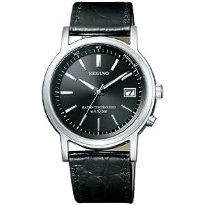 [シチズン] 腕時計 レグノ ソーラーテック 電波時計 クラシックストラップ KL7-019-50 ブラック