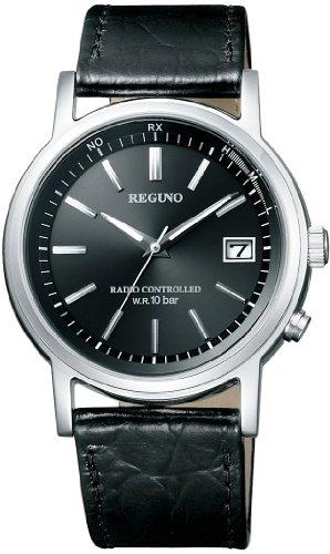 [シチズン]腕時計レグノソーラーテック電波時計クラシックストラップKL7-019-50ブラック