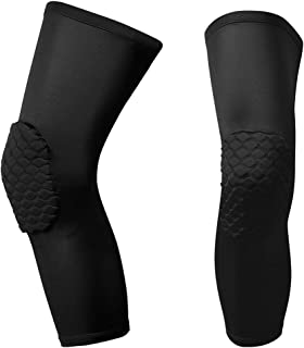 AceList Knee Pads, Padded Compression Knee Sleeve Knee Protecter Leg Sleeve for Basketball, Volleyball, Football & All Outdoor Sports, Youth & Adult, Men & Women, Size M, L, XL, Sold as Pair