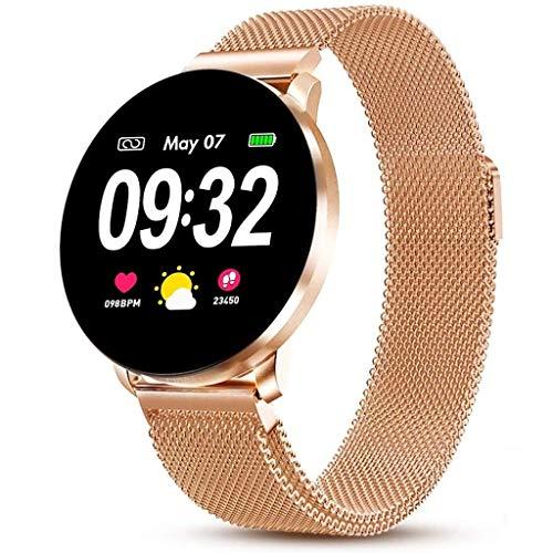 LTLJX Smartwatch, Deportivo Reloj Inteligente con Pulsómetro,Cronómetros,Calorías,Monitor de Sueño,Inteligente Podómetro Actividad para Mujer Hombre Niño,Oro
