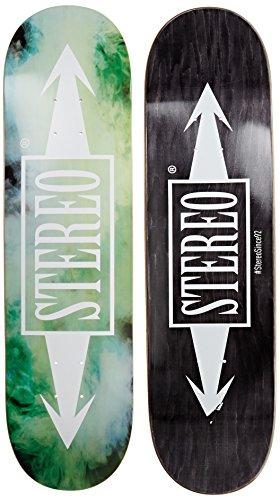 Stereo Skateboards Smokey Deck, 21cm, grün