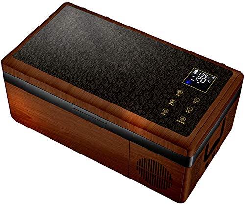 RENXR Frigorífico Congelador Portátil De 15 litros con Compresor, Refrigerador De Coche/Hogar Pantalla LCD (-4 ° F ~ 50 ° F)