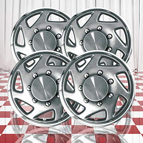 Brighter Design Set of 4 Chrome 16' Wheel Covers for Ford F-250/F-350 Super Duty...
