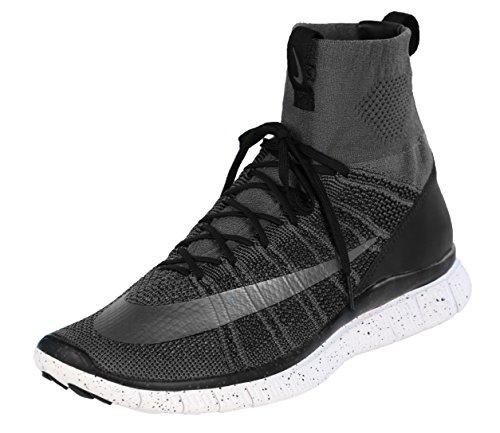 Nike Nike Herren Free Flyknit Mercurial Fußballschuhe, Grau Schwarz Weiß Dunkelgrau Silber Schwarz SMMT Wht, 47.5 EU
