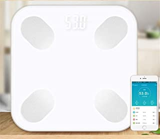 CS-YZC Digital Weight Scale Bluetooth Bathroom Scale Electronic Weight Scale Smart Fat Digital Scale Body Index durable (Color : Pink) scales for body weight (Color : White)