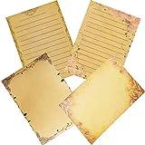 Papel de Escribir Cartas, 64 Hojas Papel Carta Vintage, Papel Kraft, Hojas Papel Vintage, Cartas Antiguas para Escribir, Decoración, Cartas a la Antigua Usanza, Manualidades o Scrapbooking