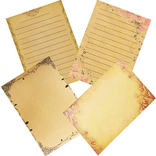 Papel de Escribir Cartas, 64 Hojas Papel Carta Vintage, Pape